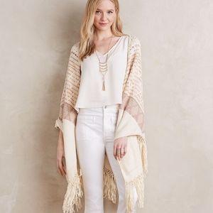 Calipatria Sweater Poncho Wrap One size EUC